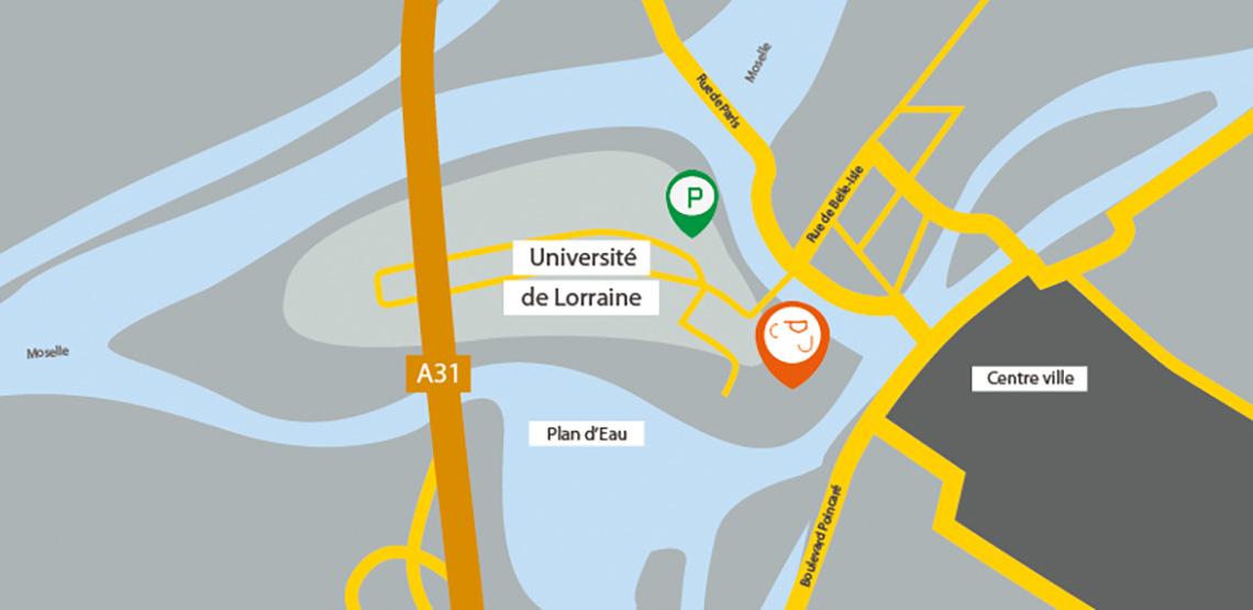 Accéder au Centre Pierre Janet à l'Université de Lorraine à Metz